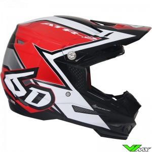 6D ATR-2 Motocross Helmet Strike Red