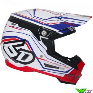 6D ATR-2 Motocross Helmet Circuit White Red Blue