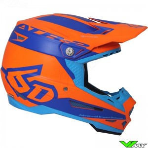 6D ATR-2 Motocross Helmet Sector Orange Blue