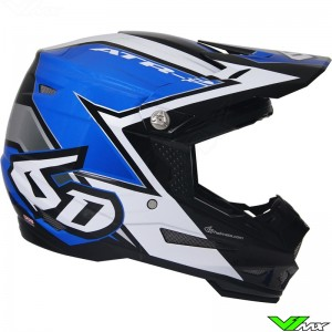 6D ATR-2 Crosshelm Strike Blauw Wit
