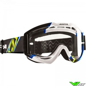 Jopa Venom 2 Motocross Goggle Graphic Fluo Yellow Blue