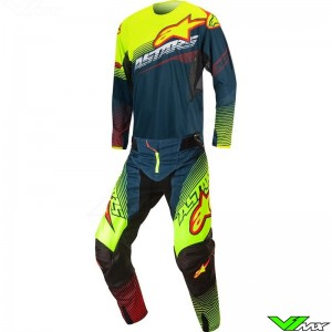 Alpinestars Techstar Factory Gear Combo Petrol / Fluo Yellow (30/32/S/M)