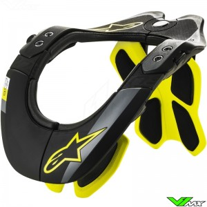 Alpinestars Tech 2 2019 Neck Brace - Black / Fluo Yellow