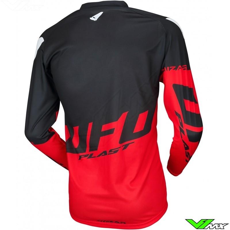 94bb7b81da563e UFO Mizar 2019 Kids Motocross Jersey - Black / Red - V1mx