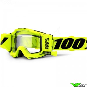 100% Accuri Forecast Fluo Yellow Motocross Goggle -