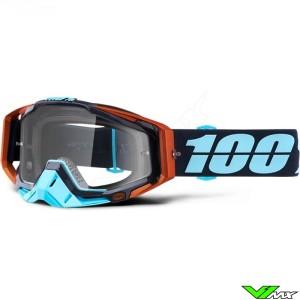 100% Racecraft Ergono Crossbril - Clear Lens