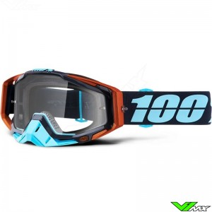 100% Racecraft Ergono Motocross Goggle - Clear Lens