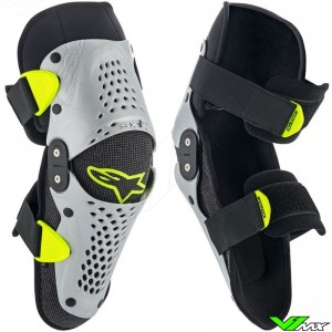 Alpinestars Sx-1 2019 Youth Knee Protector - Silver / Fluo Yellow