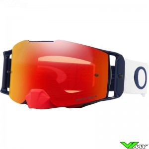 Oakley Frontline Motocross Goggle - Red / White / Blue - Prizm Torch Lens