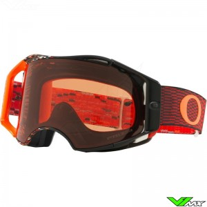 Oakley Airbrake Motocross Goggle - Equalizer Red / Orange - Prizm Bronze Lens
