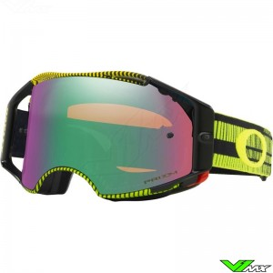 Oakley Airbrake Motocross Goggle - Frequency Green Yellow - Prizm Jade Lens