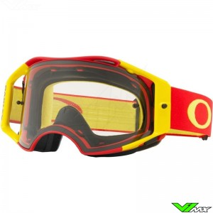 Oakley Airbrake Motocross Goggle - Red Yellow - Clear Lens