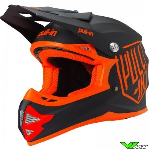 Pull In Solid Kids Motocross Helmet - Orange