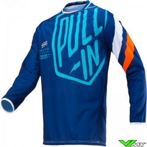 Pull In Challenger Motocross Jersey - Navy / Orange (S)