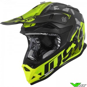 Just1 J32 Pro Motocross Helmet - Swat Camo / Fluo Yellow