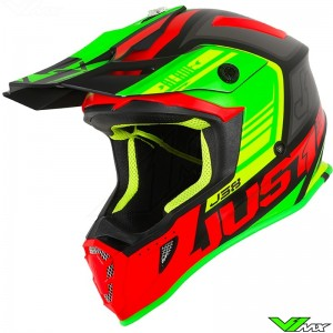 Just1 J38 Motocross Helmet - Blade / Red / Lime