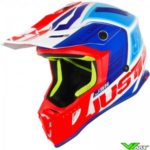 Just1 J38 Motocross Helmet - Blade / Blue / Red / White