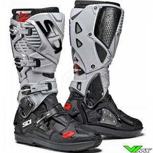 Sidi Crossfire 3 SRS Motocross Boots - Black / Grey