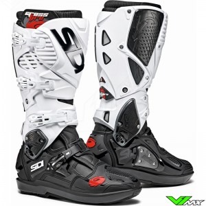 Sidi Crossfire 3 SRS Motocross Boots - Black / White