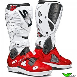 Sidi Crossfire 3 SRS Motocross Boots - Red / White