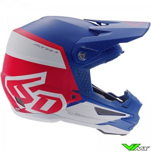 6D ATR-1 Motocross Helmet - Flight / Red / Blue
