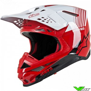 Alpinestars Supertech S-M10 Motocross Helmet - Dyno / Red / White