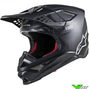 Alpinestars Supertech S-M8 Motocross Helmet - Solid / Black / Mat