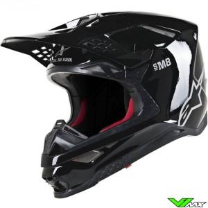 Alpinestars Supertech S-M8 Motocross Helmet - Solid / Black / Glossy