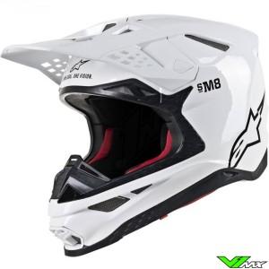 Alpinestars Supertech S-M8 Motocross Helmet - Solid / White