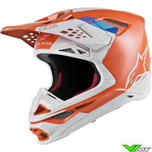 Alpinestars Supertech S-M8 Crosshelm - Contact Oranje / Grijs