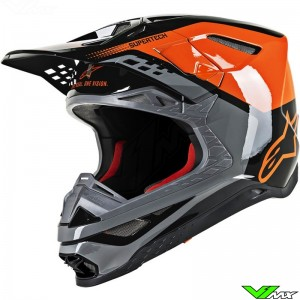 Alpinestars Supertech S-M8 Motocross Helmet - Triple / Orange / Black