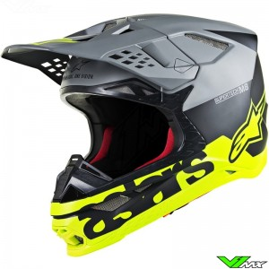 Alpinestars Supertech S-M8 Motocross Helmet - Radium / Grey / Fluo Yellow / Mat