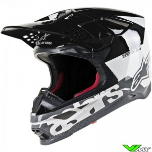 Alpinestars Supertech S-M8 Motocross Helmet - Radium / Black / Grey / White