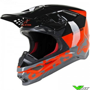 Alpinestars Supertech S-M8 Motocross Helmet - Radium / Fluo Red / Black