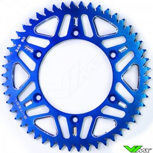 S-Teel Aluminum Rear Sprocket Blue - Yamaha