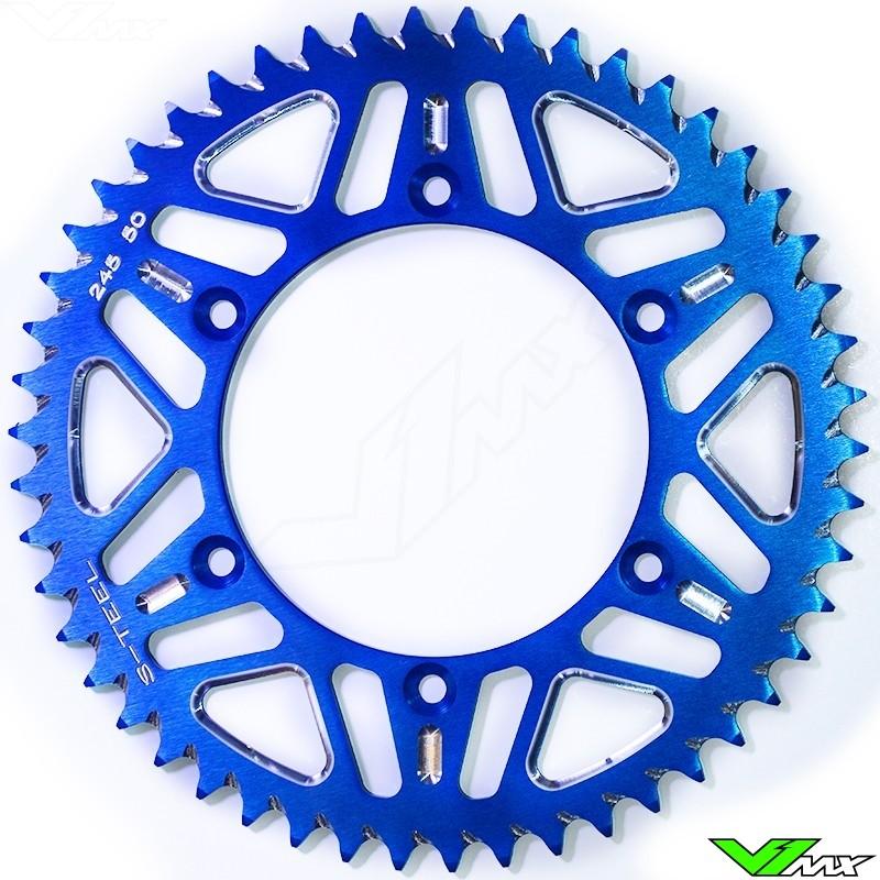 S-Teel Aluminum Rear Sprocket Blue - Yamaha