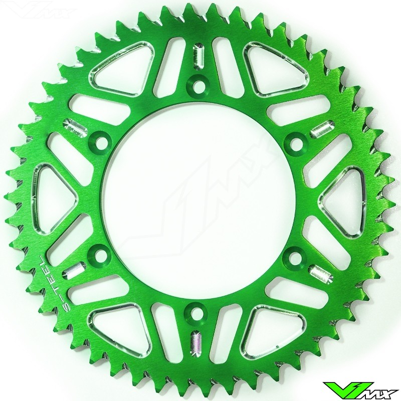 S-Teel Aluminum Rear Sprocket Green - Kawasaki Suzuki