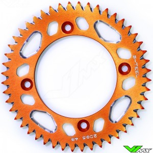 S-Teel Aluminum Rear Sprocket Orange (428) - KTM 85SX Husqvarna TC85