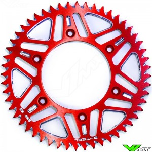 S-Teel Aluminum Rear Sprocket Red - Suzuki RM125 RM250 RMZ250 RMZ450 RMX250 RMX450Z DRZ400