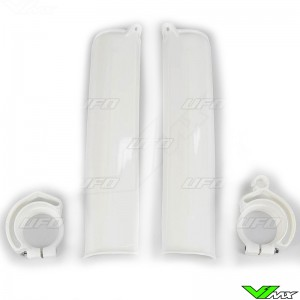UFO Lower Fork Guards White - KTM 125SX 125EXC 250EXC