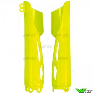 UFO Lower Fork Guards Fluo Yellow - Honda CRF250R CRF450R CRF250RX CRF450RX