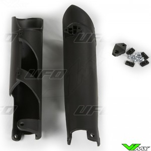 UFO Lower Fork Guards Black - Husqvarna
