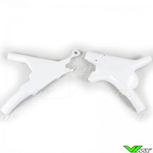 UFO Frame Guards White - Honda CR125 CR250