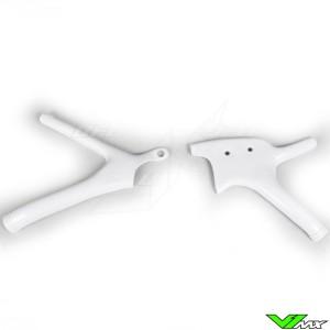 UFO Frame Guards White - Yamaha YZ125 YZ250