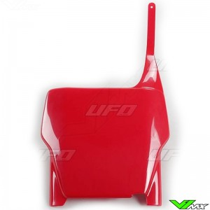 UFO Front Number Plate Red - Honda CR125 CR250 CRF250R CRF450R