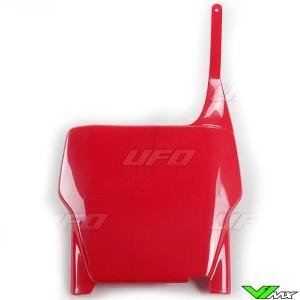 UFO Voornummerplaat Rood - Honda CR125 CR250 CRF250R CRF450R