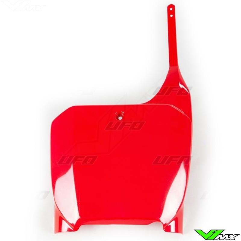 Inverted Fork UFO Plastics Front Number Plate Red Honda CR125R CR500R CR250R