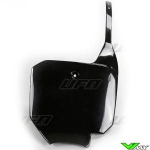 UFO Front Number Plate Black - Honda CRF150R