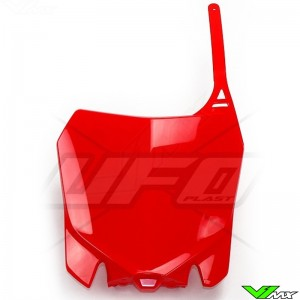 UFO Front Number Plate Red - Honda CRF250R CRF450R