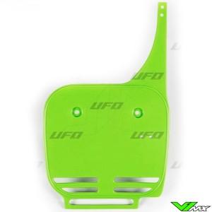 UFO Front Number Plate Green - Kawasaki KX60